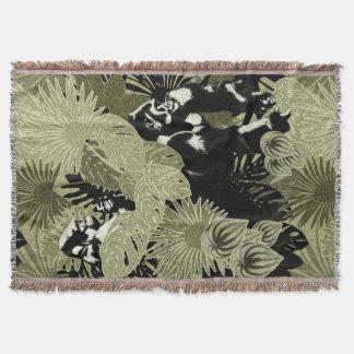 熱帯雨林#6のゴリラ スローブランケット