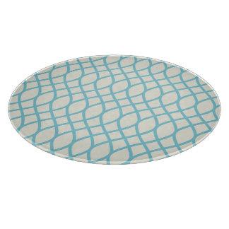 熱帯青い幾何学的 カッティングボード