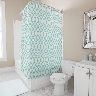 熱帯青い幾何学的 シャワーカーテン