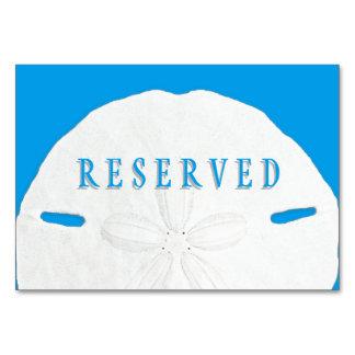 熱帯青い砂ドルの予約座席 カード