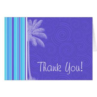 熱帯青及び紫色のストライプ; ストライプの カード
