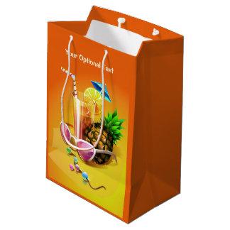 熱帯飲み物のカスタムのギフトバッグ ミディアムペーパーバッグ