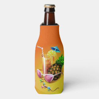 熱帯飲み物の名前をカスタムするのボトルのクーラー ボトルクーラー