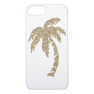 熱帯魅力的な金色やし自由章の木のiPhone 7の場合 iPhone 8/7ケース