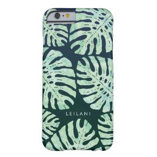 熱帯魅力|の緑の水彩画のジャングルの葉 BARELY THERE iPhone 6 ケース