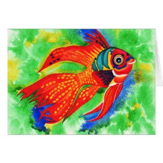 熱帯魚のすべての行事の挨拶状 カード