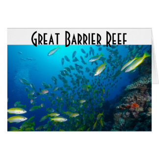熱帯魚のグレート・バリア・リーフの珊瑚海 カード