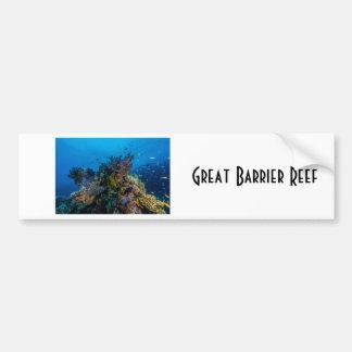 熱帯魚のグレート・バリア・リーフの珊瑚海 バンパーステッカー