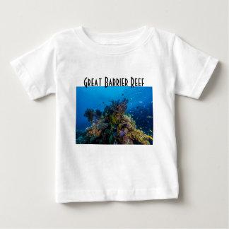 熱帯魚のグレート・バリア・リーフの珊瑚海 ベビーTシャツ