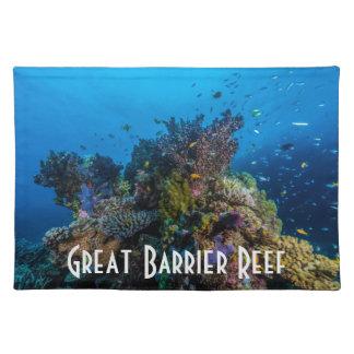 熱帯魚のグレート・バリア・リーフの珊瑚海 ランチョンマット