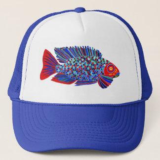 熱帯魚のデザインのトラック運転手の帽子 キャップ