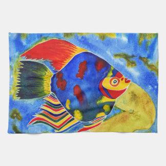 熱帯魚のデザインの台所タオル キッチンタオル