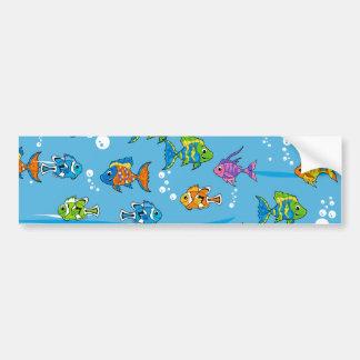 熱帯魚のバンパーステッカー バンパーステッカー