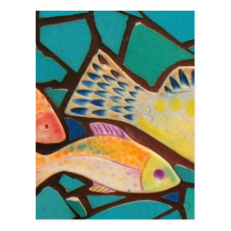 熱帯魚のモザイク ポストカード