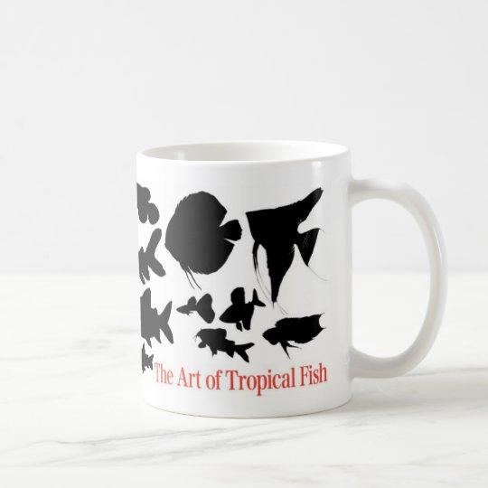 熱帯魚の影絵のマグカップ 2 コーヒーマグカップ
