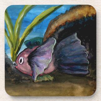 熱帯魚の水彩画 コースター