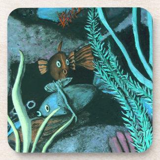 熱帯魚の珊瑚礁 コースター