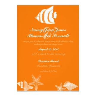 熱帯魚の結婚式招待状 カード