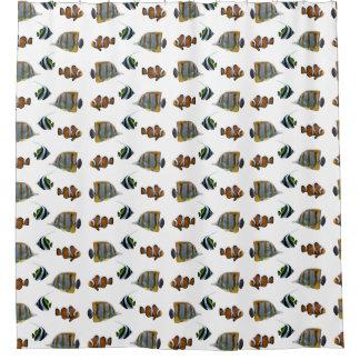 熱帯魚の逆上のシャワー・カーテン(色を選んで下さい) シャワーカーテン