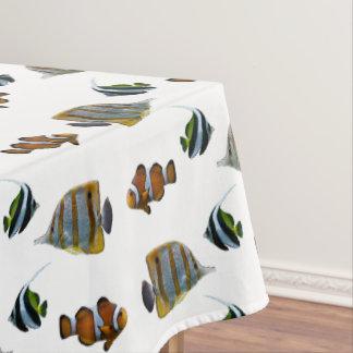 熱帯魚の逆上のテーブルクロス(色を選んで下さい) テーブルクロス
