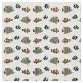 熱帯魚の逆上の生地(色を選んで下さい) ファブリック