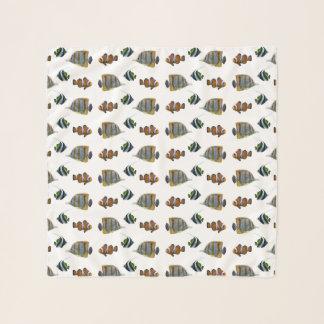 熱帯魚の逆上の軽くて柔らかいスカーフ(色を選んで下さい) スカーフ