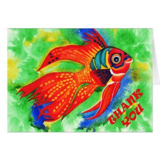 熱帯魚は挨拶状感謝していしています カード