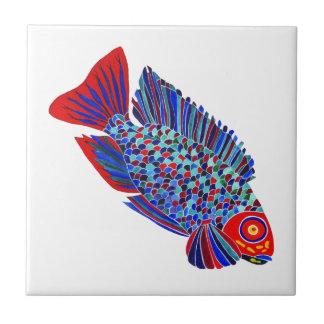 熱帯魚は装飾的なタイルを設計します タイル