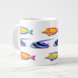 熱帯魚2つの専門のマグ ジャンボコーヒーマグカップ