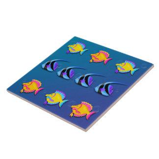 熱帯魚2のタイルかTrivet タイル
