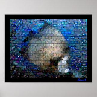 熱帯魚2のモザイクポスター プリント