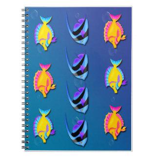 熱帯魚2の螺線形ノート ノートブック