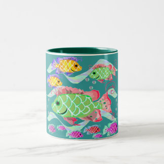 熱帯魚 ツートーンマグカップ