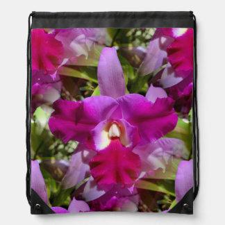 熱帯Cattleyaの蘭の花 ナップサック