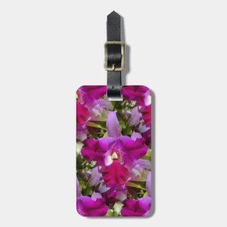 熱帯Cattleyaの蘭の花 ラゲッジタグ