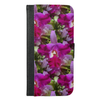熱帯Cattleyaの蘭の花 iPhone 6/6s Plus ウォレットケース