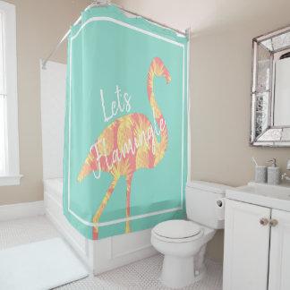 熱帯Flamingleのフラミンゴ及びパイナップルは シャワーカーテン
