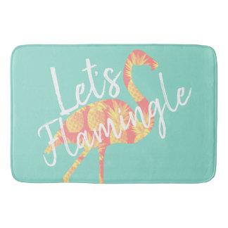 熱帯Flamingleのフラミンゴ及びパイナップルは バスマット
