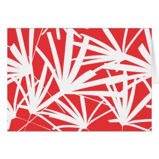 熱帯RED/WHITE Notecard カード