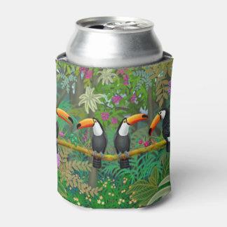 熱帯Toco Toucanの鳥のクーラーボックス 缶クーラー
