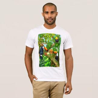 熱帯Toco Toucanの鳥のTシャツ Tシャツ