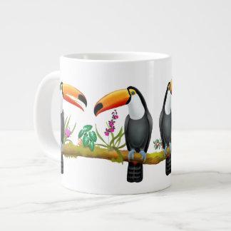熱帯Toucanの鳥のジャンボマグ ジャンボコーヒーマグカップ