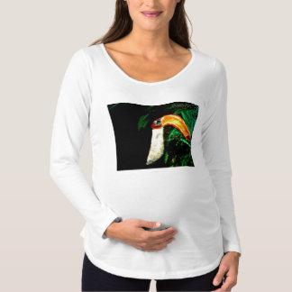 熱帯Tucanの元の芸術のデザイン マタニティTシャツ