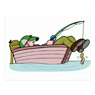熱心な漁師 ポストカード