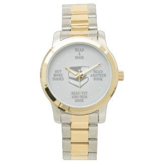 熱心な読者の腕時計(銀) 腕時計