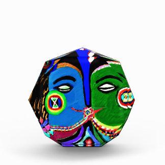 熱情的なキス-ヴィンテージのインドの洞窟の芸術のスタイル 表彰盾