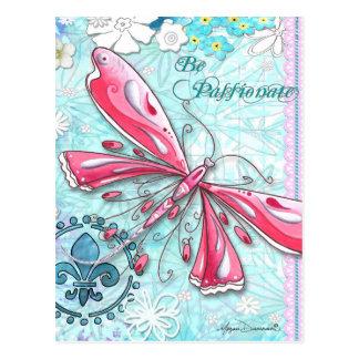 熱情的な蝶郵便はがきがあって下さい ポストカード