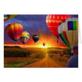 熱気の気球のイメージ カード