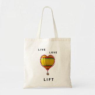 熱気の気球のハート トートバッグ