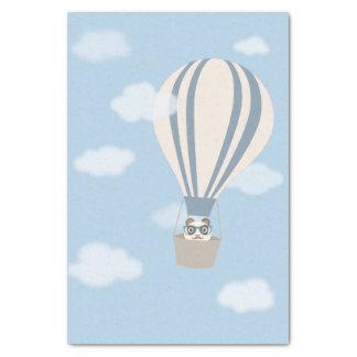 熱気の気球のヒップスターのパンダ 薄葉紙